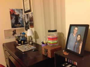 my home office (desk) - picture of me with Nimoy