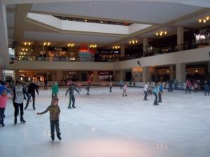 Insdoor ice skating ring at mall
